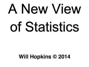 Will Hopkins – A New View of Statistics [FREE PDF]