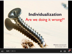 Individualization – Are We Doing It Wrong?