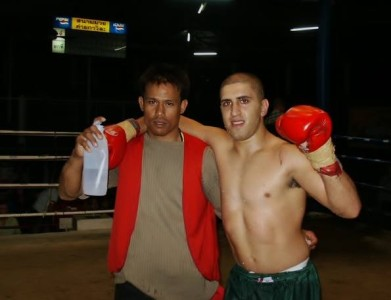 Post fight. Thailand, 2004