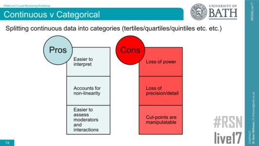 Continuous vs Categorical