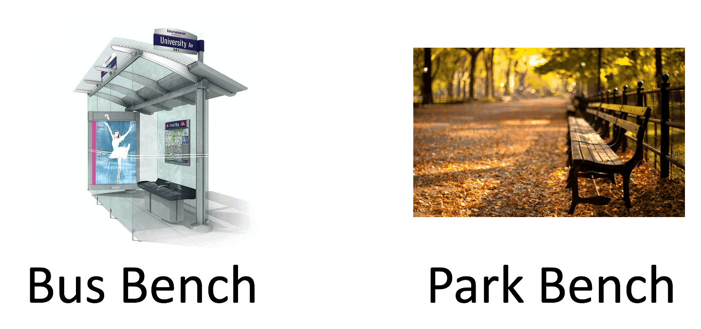 Bus bench and Park Bench concept by Dan John