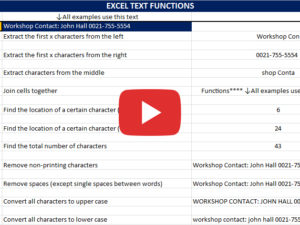 Excel Text Functions with John Lythe