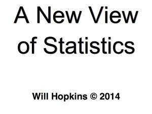Will Hopkins – A New View of Statistics [FREE PDF]