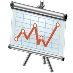 Stock Trend Diagram Icon Complementary Training