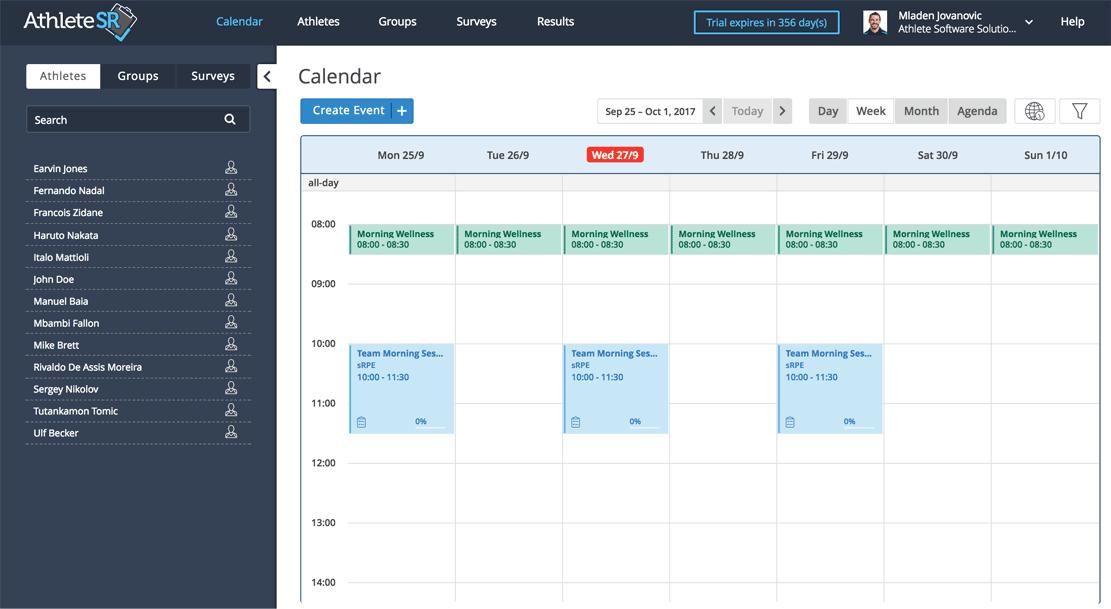 athletesr-calendar